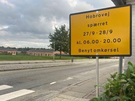 Hobrovej i Støvring spærres på mandag